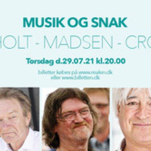 Lars Lilholt, Johnny Madsen og Billy Cross optræder med MUSIK & SNAK på Realen.